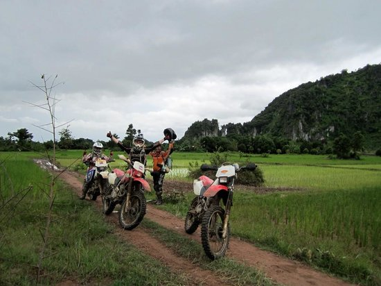 Dancing Roads Cambodia : Riding through the paddy fields
