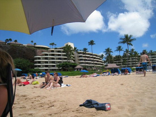 Ka'anapali Beach: Looking back at the Sheraton Hotel