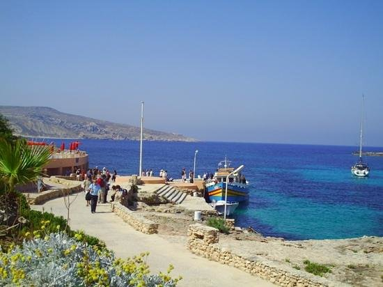 the dock at Comino Hotel