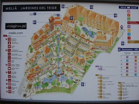 Foto de meli jardines del teide costa adeje mapa del for Melia jardines tenerife