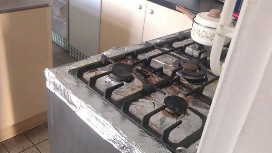 Fountain House Hotel: this is the main cooker in the kitchen mmmm grubs up