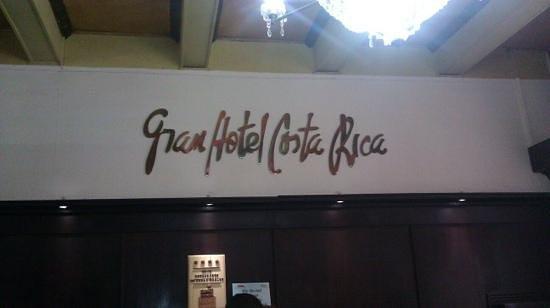 Gran Hotel Costa Rica : El lobby