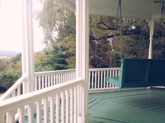 Ballard House Inn: back porch swing