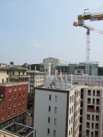 Hilton Milan: View from Exec Lounge