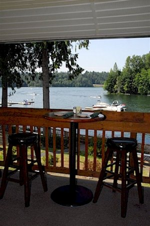 The Lakehouse restaurant: View from the upper deck/bar.  The upstairs is for guests 21 years and older.