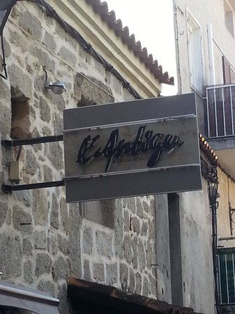 Restaurant l'Antigu: L'insegna