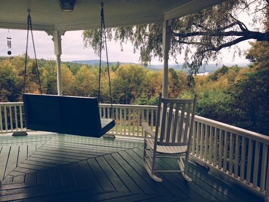 Ballard House Inn: back porch view