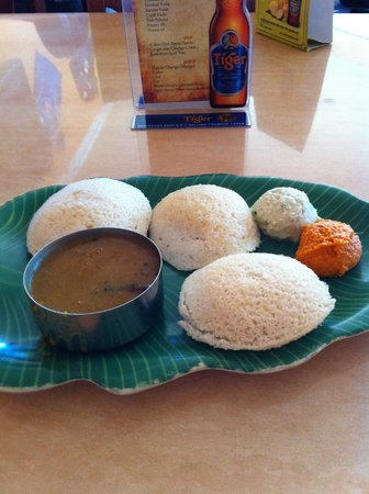 House of Dosas: Idlis - steamed rice/lentil cake with chutney