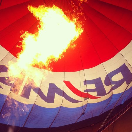 Balloon Aloft Gold Coast: This balloon is on fire!