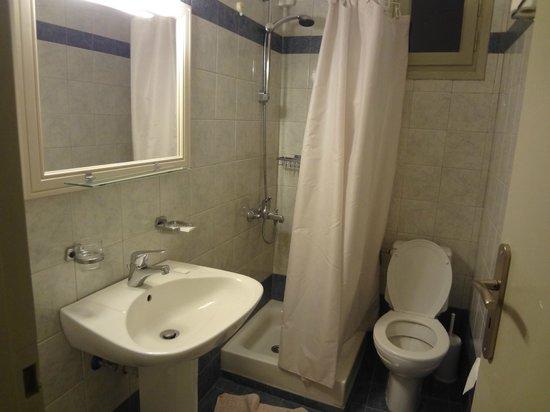 Nissos Thira Hotel : Banheiro
