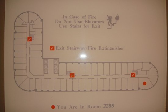 Map of the floor - Picture of Sheraton Grand Chicago, Chicago ... Chicago Hotel Maps on
