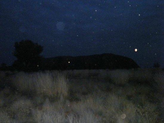 Ayers Rock Campground la vista di Urulu dal campeggio