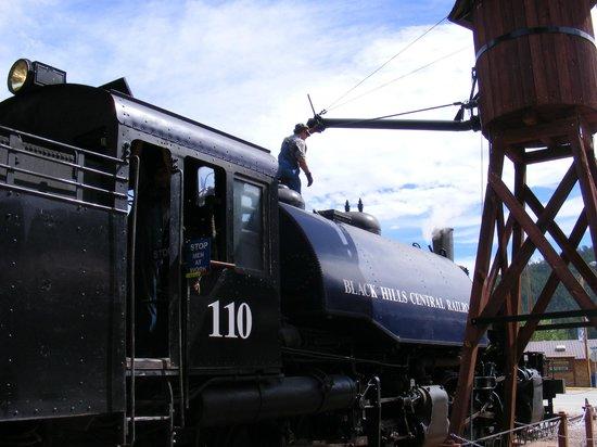 1880 Train/ Black Hills Central Railroad: filler up