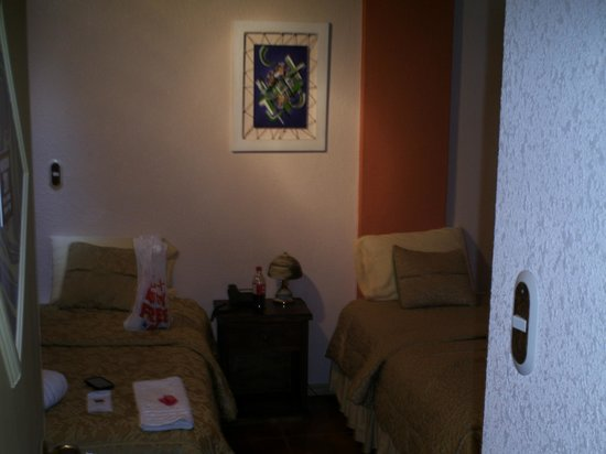 Chez Elena Guesthouse: 2 Twin beds and a T.V., what more do you need?!?