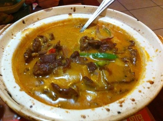 Asian Fusion: best Thai curry in town!  the lamb version
