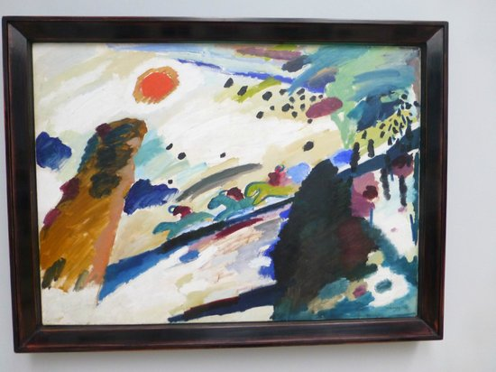 Municipal Gallery in Lenbach House: Painting by Kandinsky