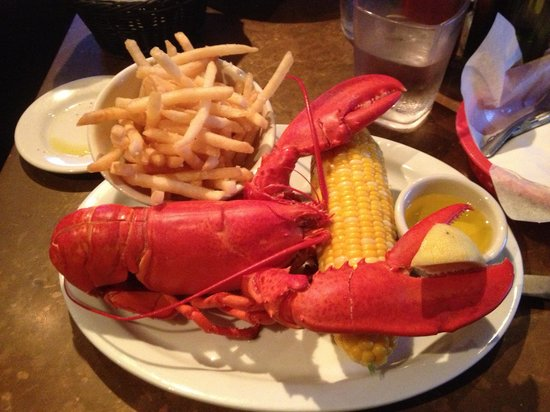 Mac's Shack: Thirty two dollar 1.5 pound lobster with garlic fries.