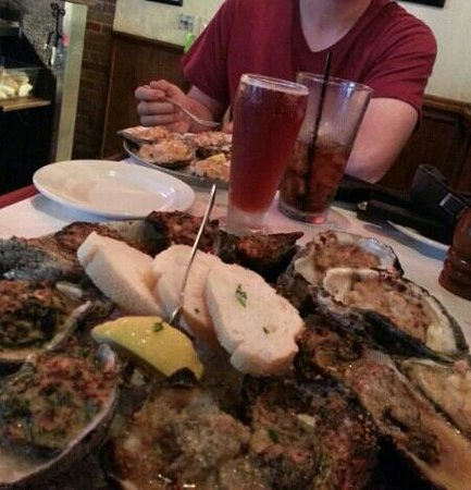 Half Shell Oyster House : The Oyster sampler. A dozen done 4 different ways. very enjoyable.
