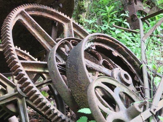 Ulster American Folk Park: Rusty iron.