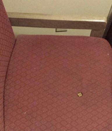 Red Roof PLUS+ Nashville North - Goodlettsville: Chair in non-smoking room. Guys, give me a break