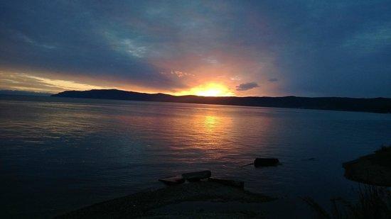 Nikola Hotel: sunset on Baikal lake