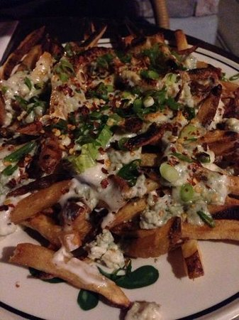 Grill-A-Burger: fries topped with homemade blue cheese mayo