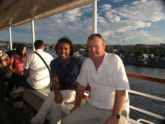 My Local Guide - Istanbul: Our great tour guide, Salih - on the left