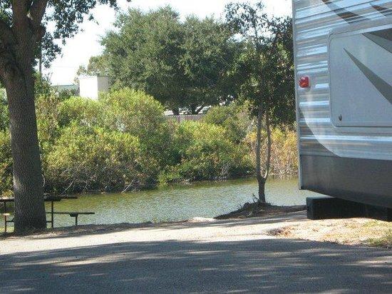 St. Augustine Beach KOA: our campsite