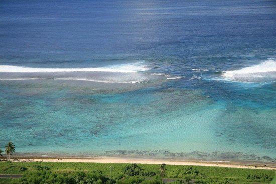 Taufua Beach Fales: A view of the reef