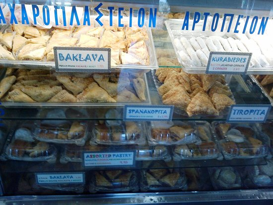 The Mad Greek: pastry case