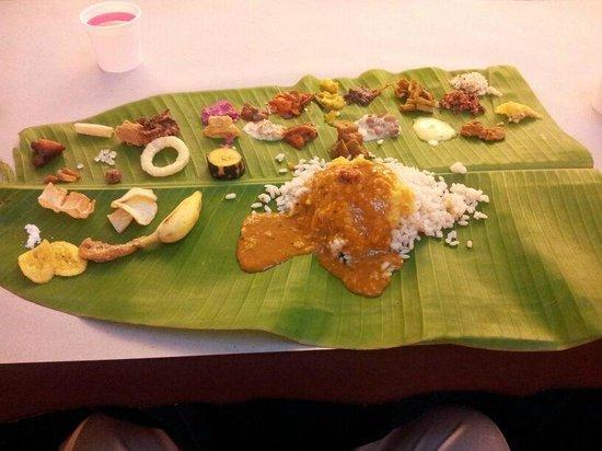 Hotel Presidency: The Onam Sadya spread