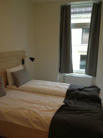 Citybox Oslo: the bed room