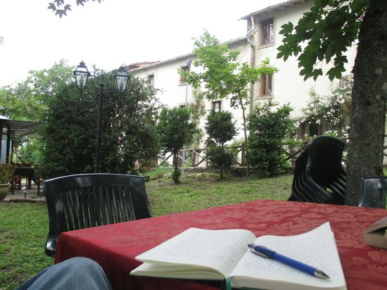 Hotel Restaurant La Verna: Writing from the hotel grounds