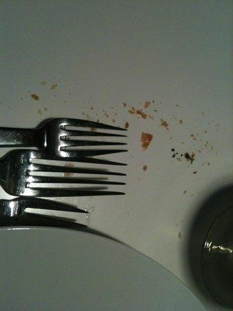 Table des Jardins : Miettes en fin de repas !