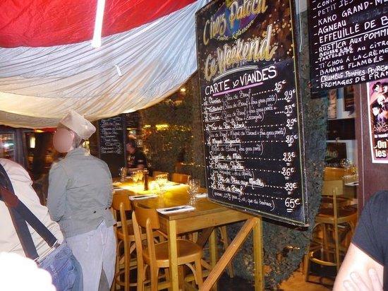 Chez Patoch': la salle du restaurant