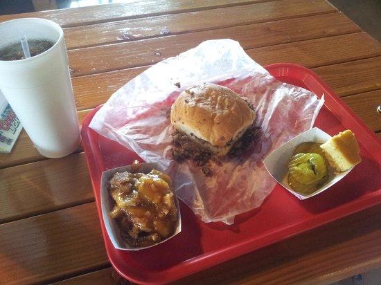 Coach's Bar-B-Que: My meal