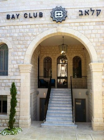 Bay Club Haifa Hotel - an Atlas Boutique Hotel : The Bay Club entrance
