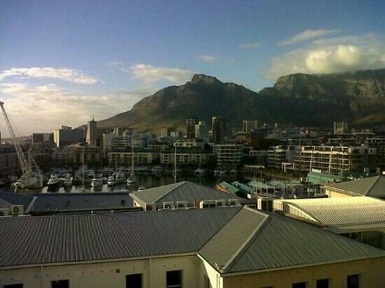 The Commodore: view over waterfront and table mountain from room balcony