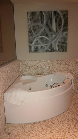 Albergo Protti: The jacuzzi in our room