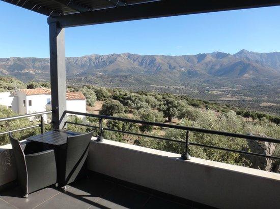 Hotel A Piattatella: vue de la terrasse