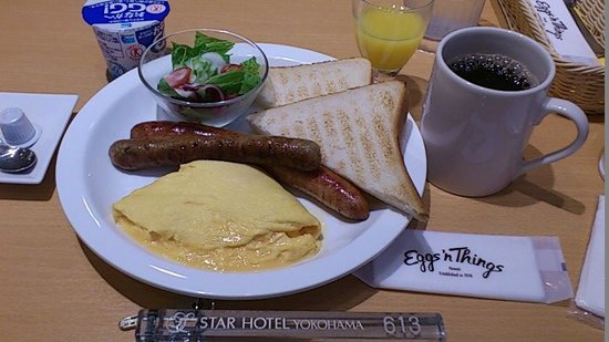 Star Hotel Yokohama: エッグスンシングスでの朝食