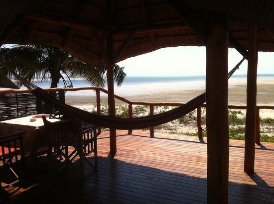 andBeyond Benguerra Island : La terrasse de la chambre