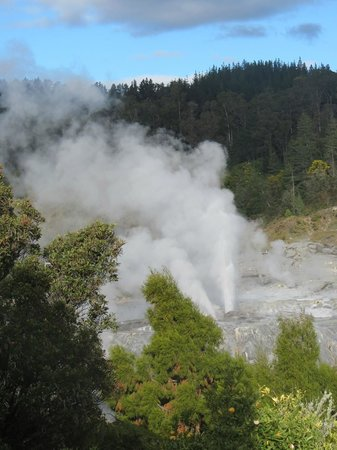 SilverOaks Hotel Geyserland: The beautiful geyser - taken from third floor room