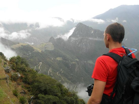 Inka Trail Backpacker: a great view from the sun gate