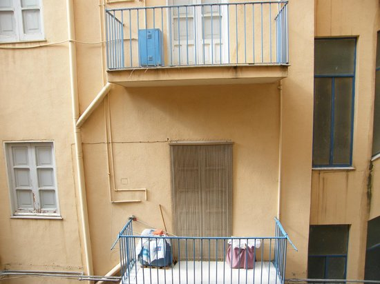 Hotel del Viale: gerader Blick aus dem Fenster