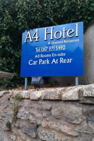 A4 Hotel : Hotel Sign