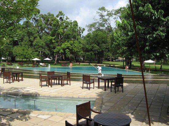 โรงแรมชายา วิลเลจ ฮาบารานา: The swimming pool and poolside area.