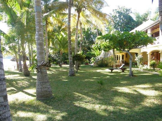 Chanty Beach Hotel : Der Garten des Chanty Beach ist ein kleines Paradis.