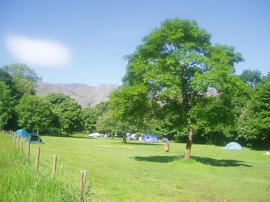 National Trust Campsite - Great Langdale: sunny langdale campsite