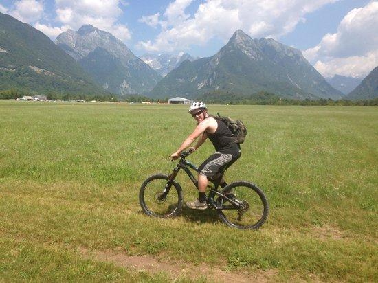 Mountain Bike Galaxy: Riding across an airport in Bovec!